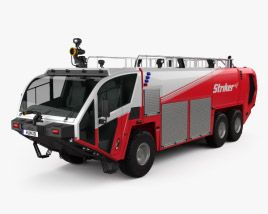 3D model of Oshkosh Striker 3000 Fire Truck 2010