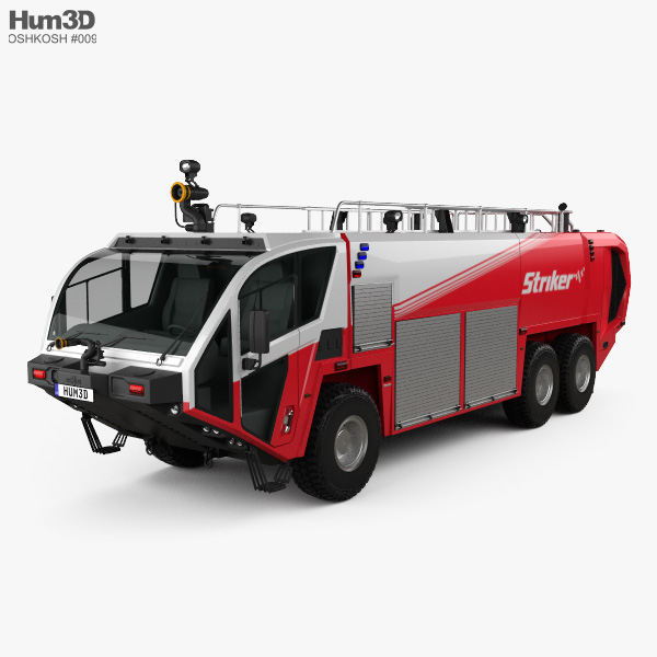 3D model of Oshkosh Striker 3000 Fire Truck 2010