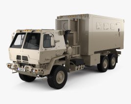 3D model of Oshkosh FMTV M1087 A1P2 Expansible Van Truck 2016