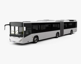 3D model of Otokar Kent C Articulated Bus 2015