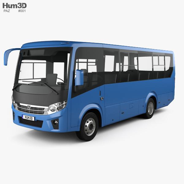 3D model of PAZ Vector Next Bus 2017