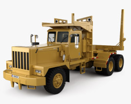 3D model of Pacific P-16 Log Truck 1978
