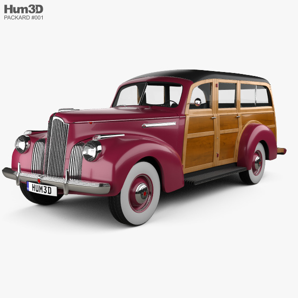 Packard 110 Station Wagon (1900-1483) 1941 3D model