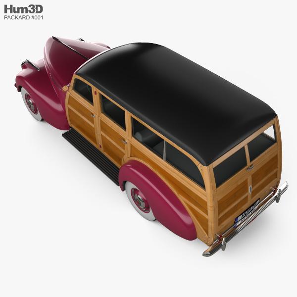 Packard 110 Station Wagon (1900-1483) 1941 3D model