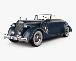 3D model of Packard Twelve Coupe Roadster 1936