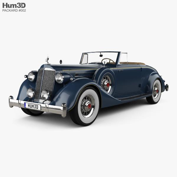 Packard Twelve Coupe Roadster 1936 3D model
