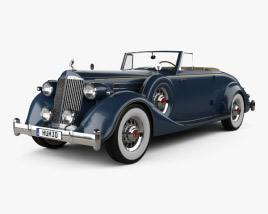 Packard Twelve Coupe Roadster with HQ interior 1936 3D model