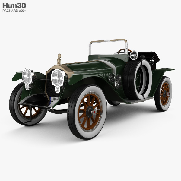 Packard Indy 500 Pace Car 1915 3D model