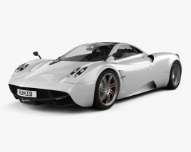 3D model of Pagani Huayra 2012