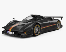 3D model of Pagani Zonda Revolucion 2014