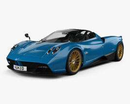 3D model of Pagani Huayra Roadster 2017