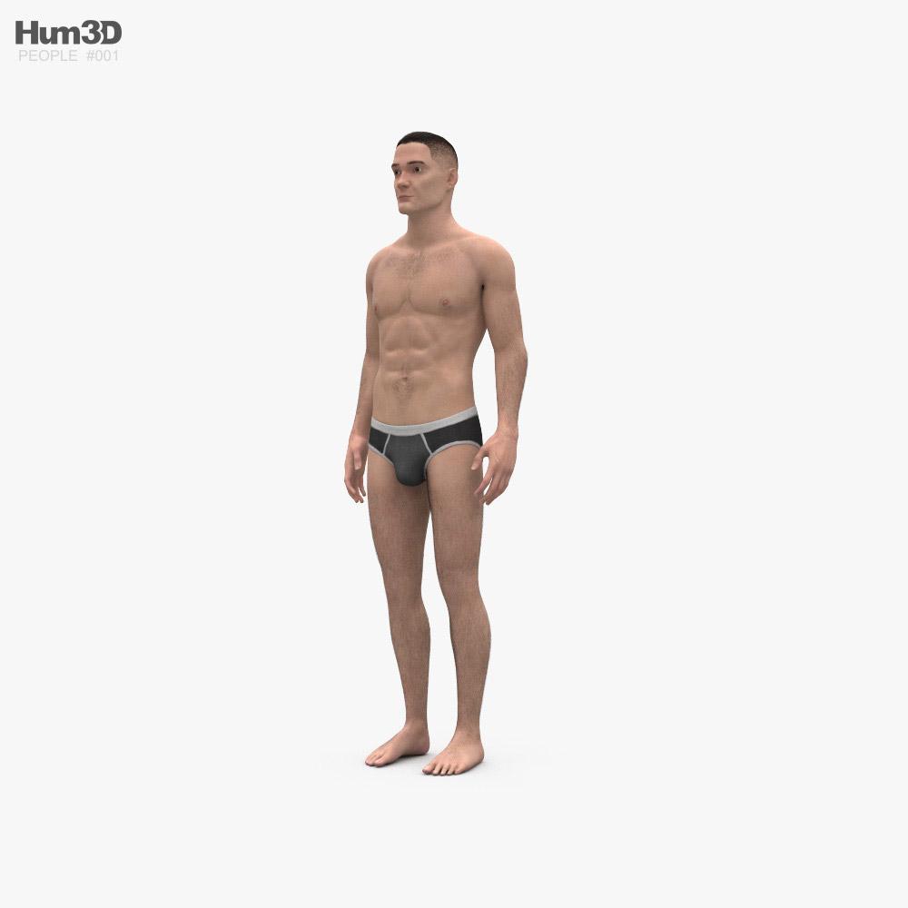 男人 3D模型