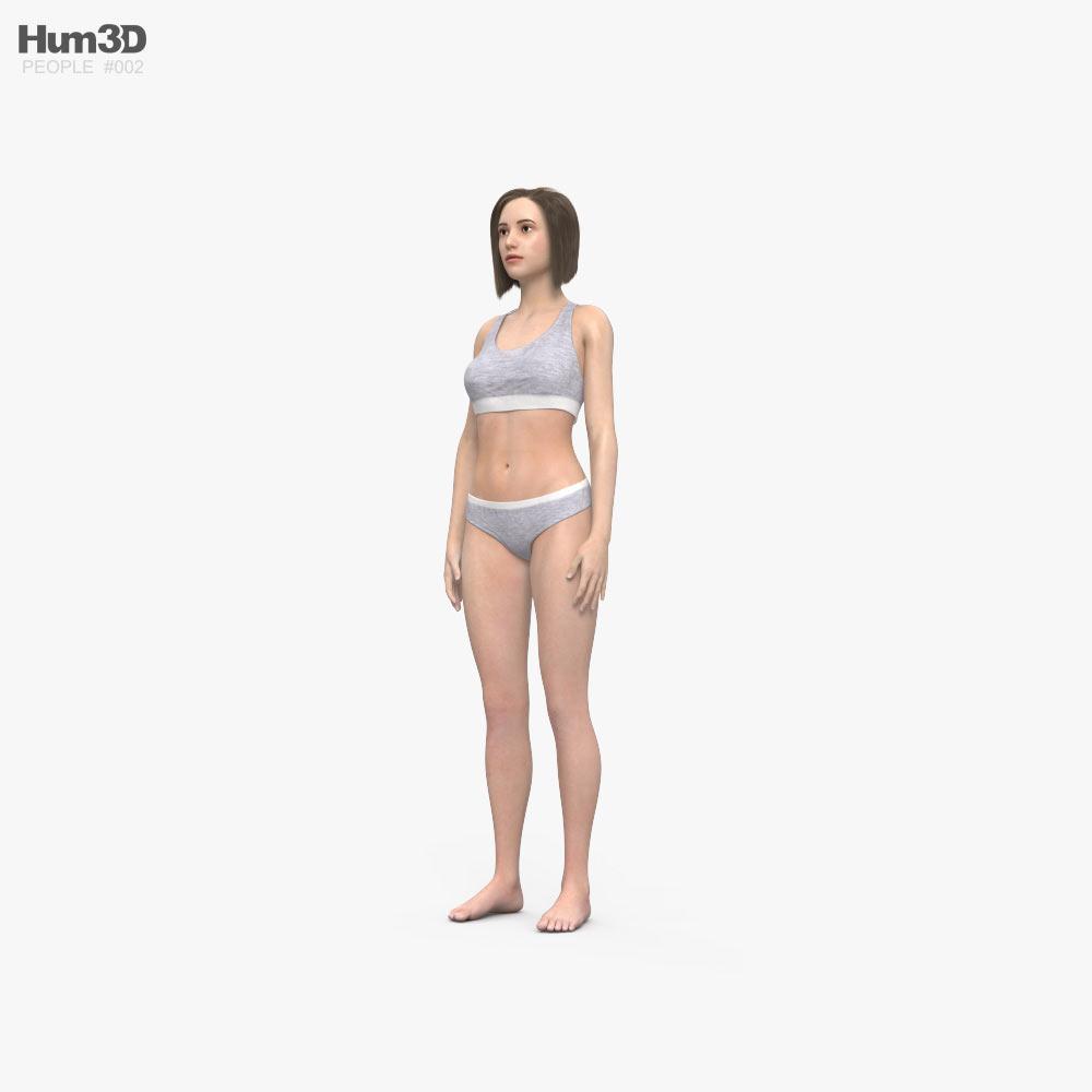 女人 3D模型