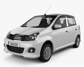 3D model of Perodua Viva 2009