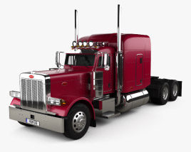 3D model of Peterbilt 379 Tractor Truck 1987