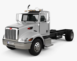 3D model of Peterbilt 337 Chassis Truck 2-axle 2006