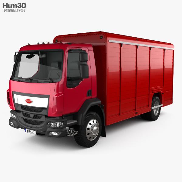 Peterbilt 210 Box Truck 2008 3D model