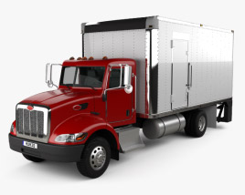 3D model of Peterbilt 325 Box Truck 2007