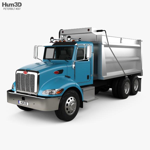 Peterbilt 348 Dump Truck 2006 3D model