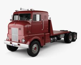 3D model of Peterbilt 350 Tractor Truck 1949