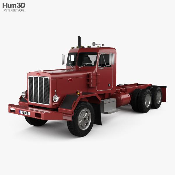 Peterbilt 353 Chassis Truck 1973 3D model