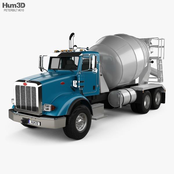 Peterbilt 365 Mixer Truck 2007 3D model