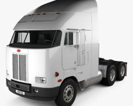3D model of Peterbilt 372 Tractor Truck 1988