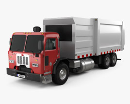 3D model of Peterbilt 320 Garbage Truck 2008