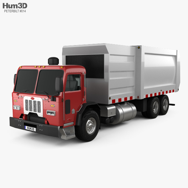 Peterbilt 320 Garbage Truck 2008 3D model