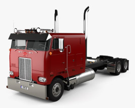 3D model of Peterbilt 352 Tractor Truck 1969