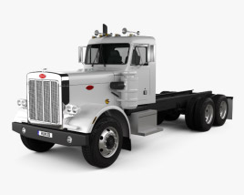 3D model of Peterbilt 359 Chassis Truck 1967