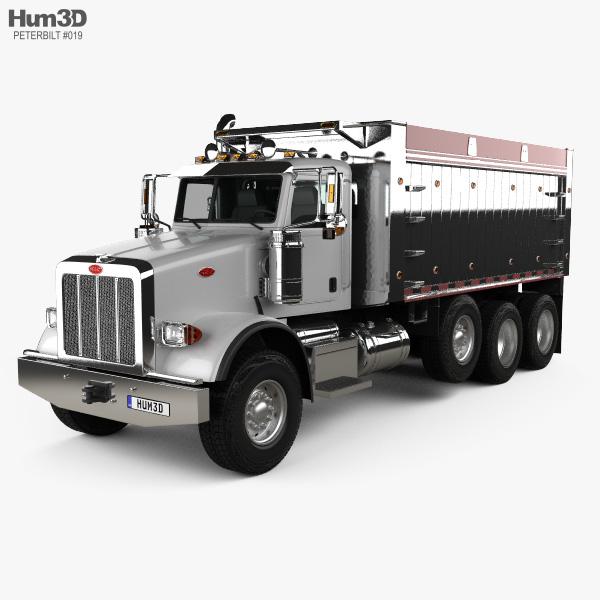 Peterbilt 367 Dump Truck 2007 3D model