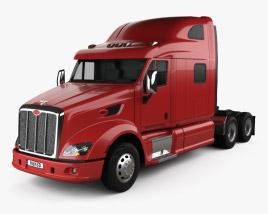 3D model of Peterbilt 587 Tractor Truck 2010
