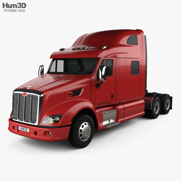 Peterbilt 587 Tractor Truck 2010 3D model