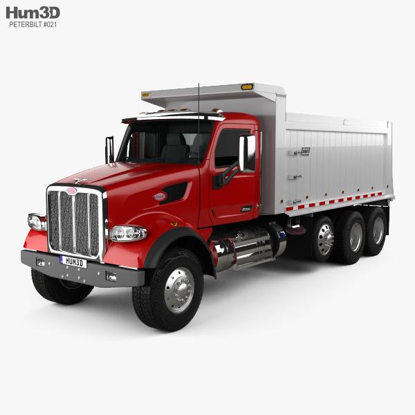 Peterbilt 567 SFFA Tipper Truck 4-axle 2015 3D model