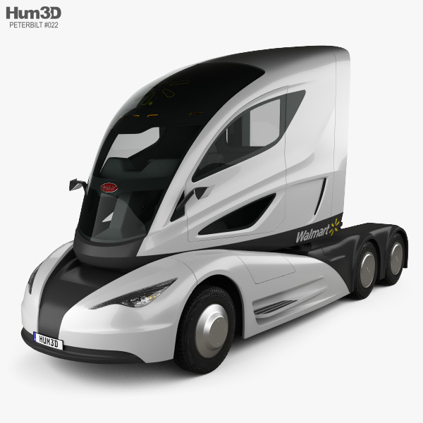 Peterbilt Walmart Advanced Vehicle Experience Truck 2015 3D model