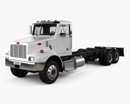 3D model of Peterbilt 330 Chassis Truck 3-axle 2003