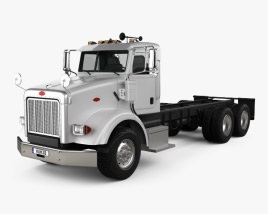 3D model of Peterbilt 357 Day Cab Chassis Truck 2006