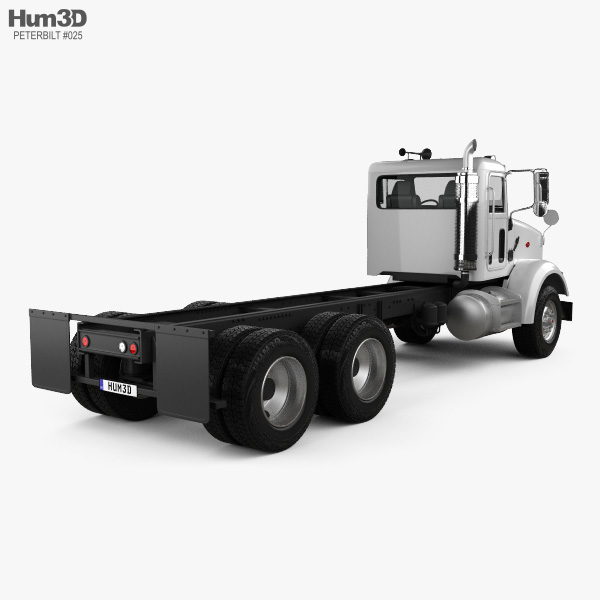 Peterbilt 357 Day Cab Chassis Truck 2006 3D model