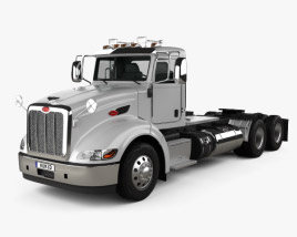 3D model of Peterbilt 384 Day Cab Tractor Truck 2014
