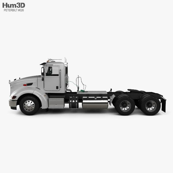 Peterbilt 384 Day Cab Tractor Truck 2014 3D model