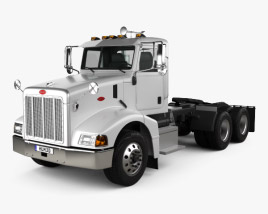 3D model of Peterbilt 385 Day Cab Tractor Truck 2007