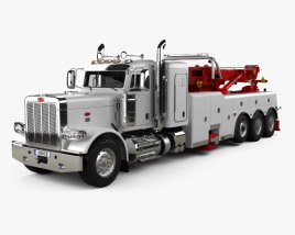 3D model of Peterbilt 388 Wrecker Truck 2014