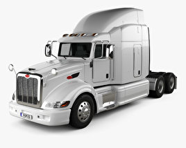 3D model of Peterbilt 386 Sleeper Cab Tractor Truck 2010