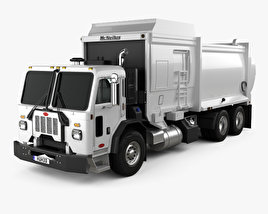 3D model of Peterbilt 520 Garbage Truck McNeilus 2016
