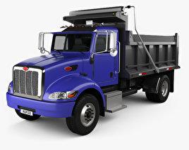 3D model of Peterbilt 340 Dump Truck 2009