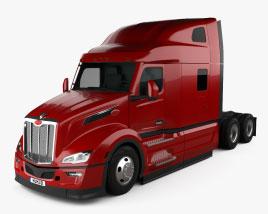 Peterbilt 579 Sleeper Cab Tractor Truck 2021 3D model