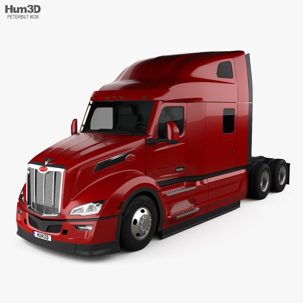 Peterbilt 579 スリーパーキャブ トラクター・トラック 2021 3Dモデル