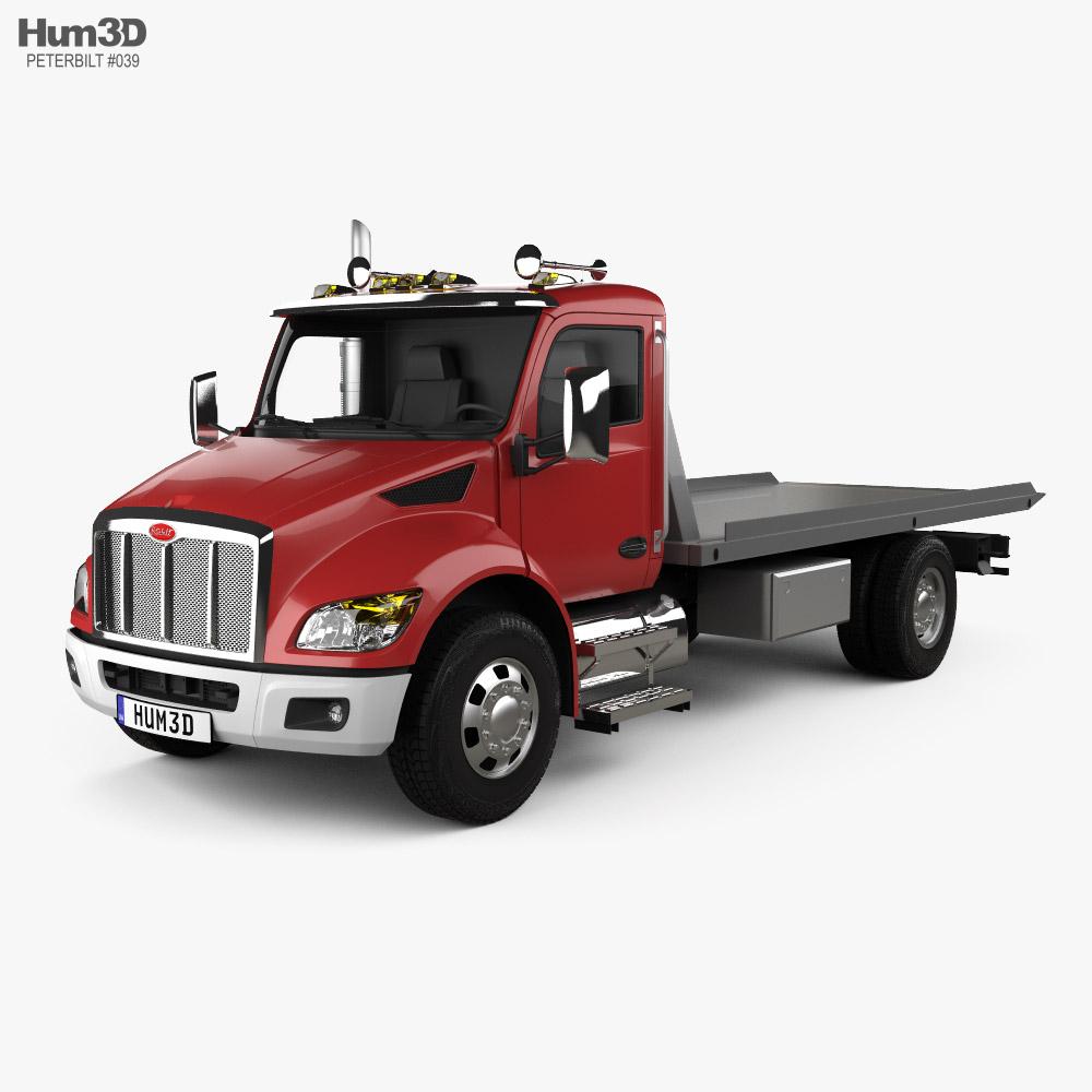 Peterbilt 537 Tow Truck 2021 3D model