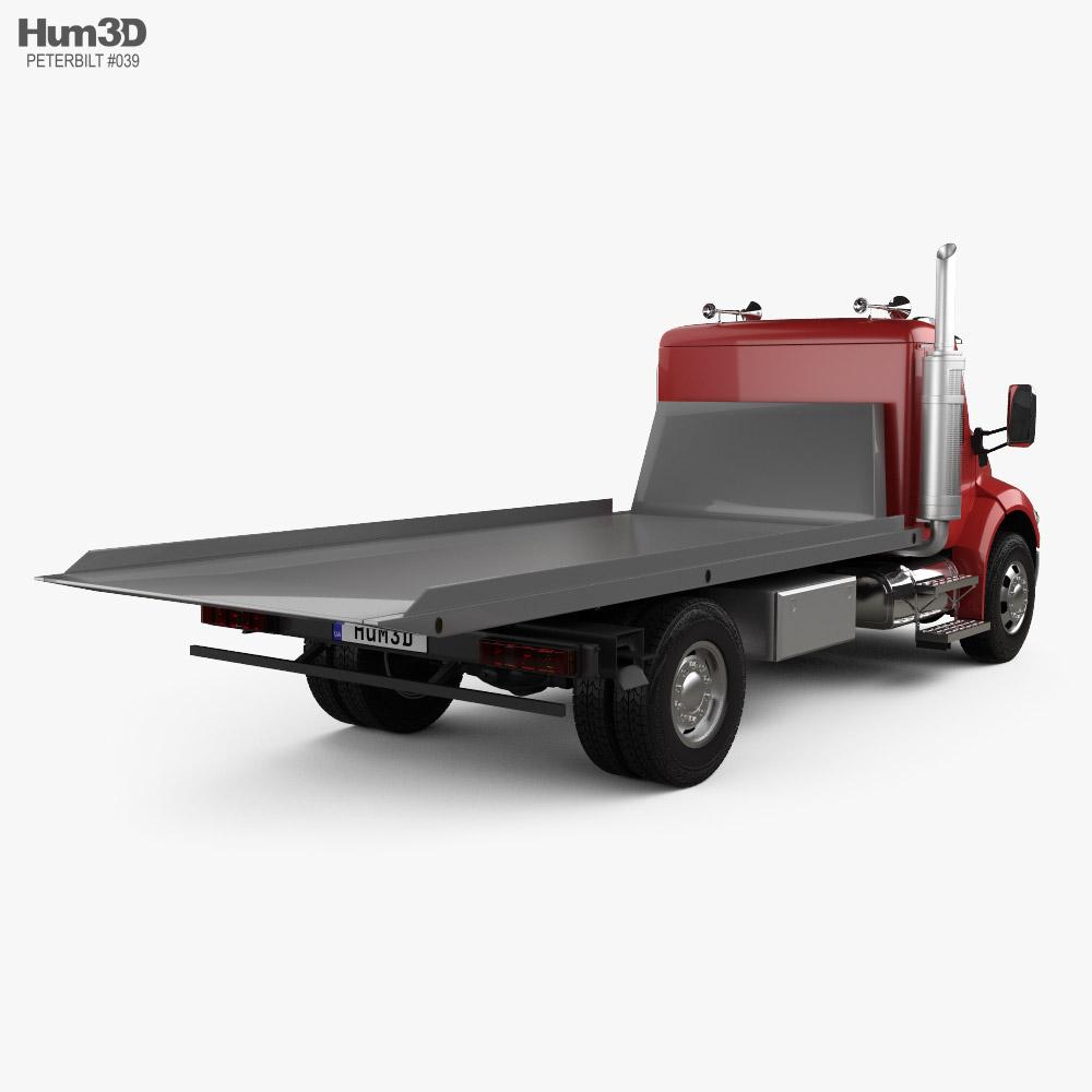 Peterbilt 537 Tow Truck 2021 3d model back view